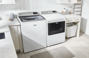maytag dryer won't start just beeps